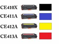 1PK 305A CE410X - CE413A Black Toner For HP M375nw M451dn M451dw M451NW M475DN