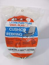 "Vintage Frost King Lawn Furniture Cushion Webbing Strapping 7/16"" X 120Ft Green"