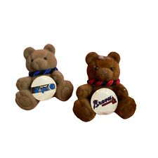 "2 Sports Pin Lot NBA Orlando Magic Atlanta Braves Baseball Rare Teddy Bears 1.5"""