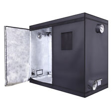 8x4x6.5' Hydroponic Grow Tent | Black, Dismountable, PEVA High-Reflective Silver