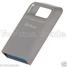 USB 3.0 3.1 Memory Speicher STICK 64gb KINGSTON DataTraveler Micro DTMC3/64GB