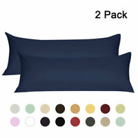 2PCS Body Pillow Covers Soft 1800 Microfiber Long Pillowcases w Zipper 16 Colors