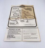 Vintage Star Wars Vehicle Maintenance Energizer  Instructions Manual 1982 Kenner