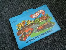 Hot Wheels 12 Car Collector Case-Blue-Vintage Mattel Original