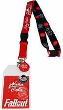 Fallout Nuka Cola Lanyard Sticker ID Badge Holder Bottle Cap Charm New Official