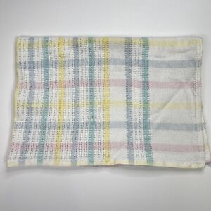 Vintage Beacon Cotton Baby Blanket Pastel Woven Knit Waffle Weave 1675 USA 30x43
