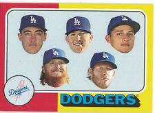 Los Angeles Dodgers POSTSEASON TEAMS 2017 Topps #TBT /564 Bellinger Kershaw