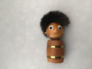 Vintage Retro Kitsch Gonk Wooden Figure Bottle Opener Foreign