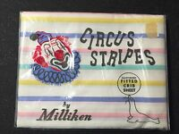 Vintage 1950s NEW Circus Stripes Fitted Baby Crib Sheet NOS In Package Miliken
