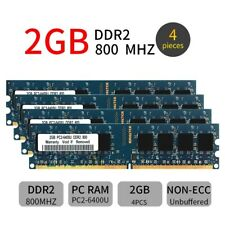 8GB Kit 4x 2GB 1GB DDR2 PC2-6400U 800MHz 240Pin Desktop RAM Blue DIMM Memory CA