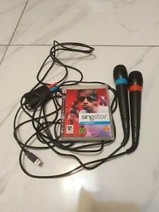 Singstar PS3 Playstation 3 Game With USB Microphones Which Also Work With PS2