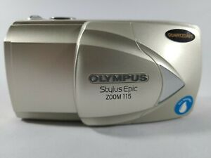 Olympus Stylus Epic Zoom 115 35mm Film Point & Shoot Camera Tested Works