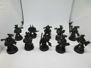 Chaos Space Marines 10 Man Squad Base Painted Plastic Metal Warhammer 40k G02