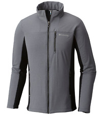 Columbia Mens XXL Ghost Mountain Full Zip Jacket Black/Gray Polartec 2xl