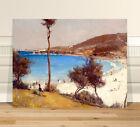 "Classic Australian Fine Art ~ CANVAS PRINT 24x16"" Coogee Holiday Tom Roberts"