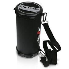 Axess SPBT1031-GY Portable Bluetooth 2.1 Hi-Fi Cylinder Loud Speaker In Grey New