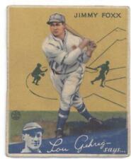 1934 Goudey #1 Jimmie Foxx Athletics VG+ Very Good Plus