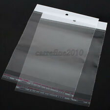 100pcs Available area 9x13cm Hang Hole Opp Bag Plastic Bags Self Adhesive Seal
