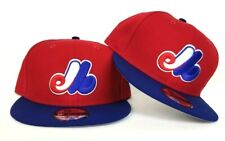 New Era MLB Cooperstown Montreal Expos 9Fifty Snapback Hat Red Blue