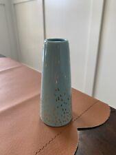 Blue And Gold Dot Bud Vase