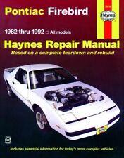 Haynes workshop Manual Pontiac Firebird 1982-1992 Service Repair V6 V8