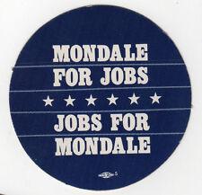 1984 WALTER MONDALE President POLITICAL Lapel Sticker JOBS Geraldine Ferraro