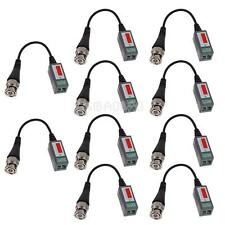 10Pcs CCTV Camera Passive Video Balun BNC Connector Coaxial Cable Adapter Black