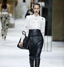 Max Mara Limited Edition wool blend black skirt size I38 UK6 US4 MSRP $636.00