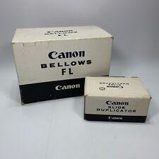 Canon Macro Bellows FL + Slide Duplicator 55 Fits FD AE-1 F-1 ETC LOOK NEW w Box