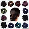 Velvet Flower Hair Scrunchies Ponytail Holder Hair Ropes Elastic Hair Bands New