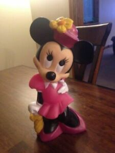 Vintage Minnie Mouse Coin Change Bank Walt Disney 1960's by ILLCO TOYS Vinyl