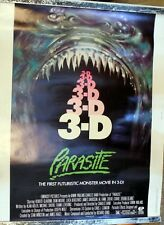 VINTAGE ORIGINAL PARASITE 3-D MOVIE POSTER 1982 SCI FI HORROR CREEPY SCARY FILM