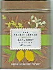 The Secret Garden USDA Organic Earl Grey Black Tea,50 Bag,Tin,EXP 11/23
