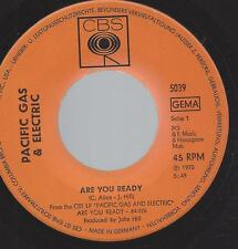 PACIFIC GAS & ELECTRIC - Are you ready  + Staggolee - Single von 1970