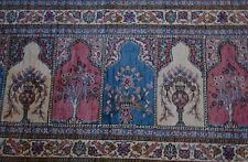 "1970 ""Signed""Genuine Super Quality Turkish Pure Silk Handmade Rug- Free Shipping"