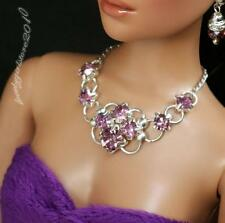 """Rhinestone Necklace and Earring Jewelry Set for 16"""" Tonner Tyler 104B"""
