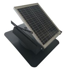 Attic Fan Solar Powered Exhaust Roof Mounted 1300 CFM Vent Ventilator Green Air