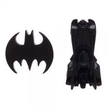 OFFICIAL DC COMICS BATMAN - BAT SYMBOL AND BATMOBILE BLACK PIN BADGES (NEW)