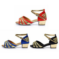 Brand New heeled ballroom Salsa tango latin dance shoes children girl women kids