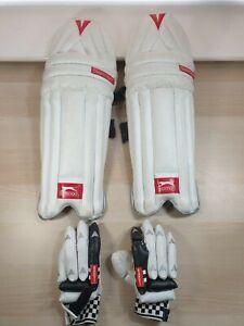 S Boys Slazenger Cricket Pads And Oblivion e41 Gray Nicolls Batting Gloves