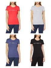 T-shirt maglietta donna manica corta girocollo cotone stretch EMPORIO ARMANI new