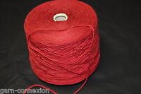 1,5 kg Wolle Merino rot GP 24,00 €/kg soft  Maschinenstrickgarn voluminös edel