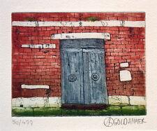 """Karl Goldammer """"Alte Tür in Venedig"""", Farbradierung"""