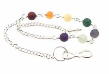 Chakra Gemstone Crystal Chain for Pendulums and Charms