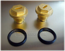 Land Rover Brass plugs for Differential or radiator & thermo housing see models