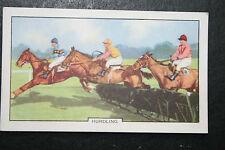 Hurdle Racing   Original 1930's Vintage Illustrated Card ## VGC