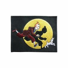 The adventures of Tintin Embroidered Iron On / Sew On Patch