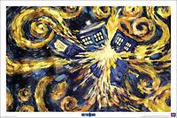 DOCTOR WHO: VINCENT VAN GOGH Exploding TARDIS 24x36 BBC TV Show Poster