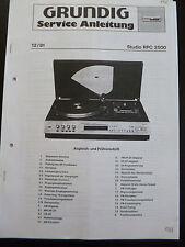 Service Manual Grundig Studio RPC 2500
