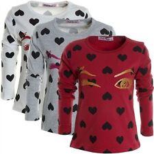 Markenlose Langarm Mädchen-T-Shirts